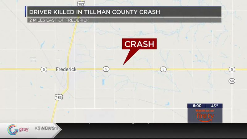 Oklahoma Highway Patrol is reporting that a woman is dead after a crash in Tillman county...