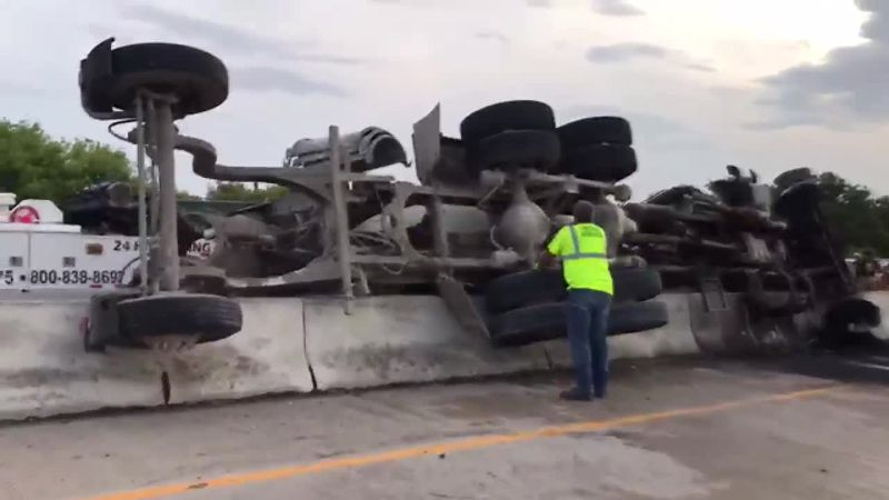 The Oklahoma Highway Patrol has the inside lanes of Interstate-44 closed Thursday morning after...