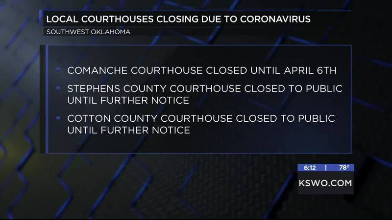 The Comanche County Courthouse is the latest to announce it will be closing to the public.