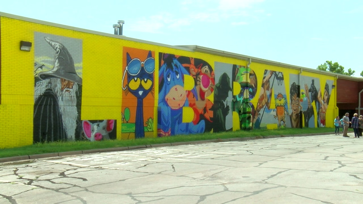 The Lawton Public Library sports a new look, after local artists were commissioned to paint a...