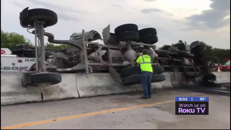 We reported on a wreck last Thursday on I-44 that left a cement truck flipped in the median. We...