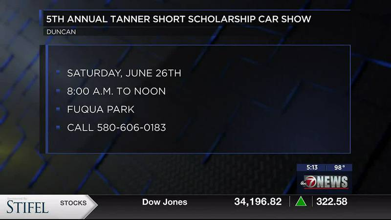 The 5th annual Tanner Short Scholarship Car Show is this Saturday, June 26th from 8 to noon at...