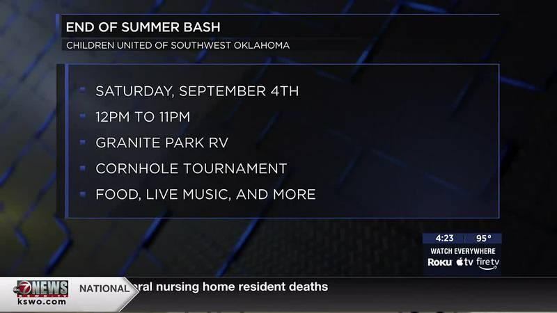 Children United of Southwest Oklahoma gives details on upcoming End of Summer Bash on Sept. 4.