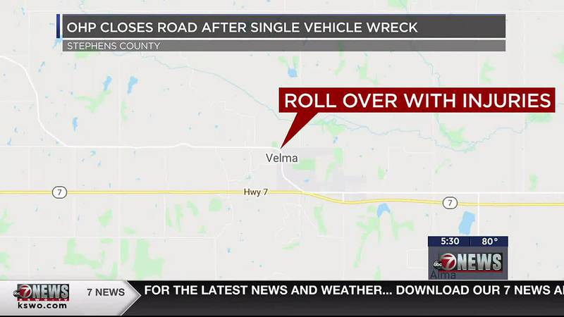 According to the Oklahoma Highway Patrol, troopers responded to a single vehicle roll over with...