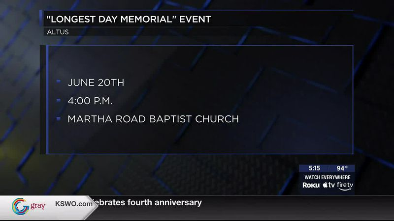 The event is set for 4 p.m. Saturday, June 20th at Martha Road Baptist Church.
