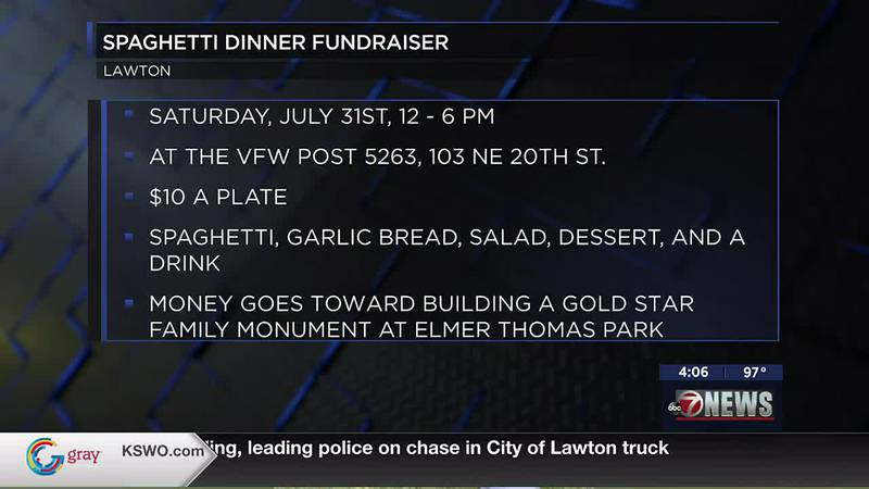 VFW spaghetti dinner is this weekend to fund new monument in Elmer Thomas Park.