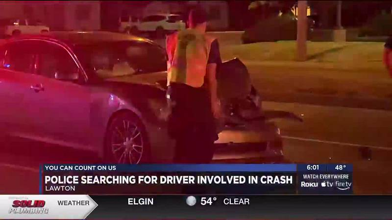 Two cars were involved in a crash Wednesday night in Lawton near the intersection of Sheridan...