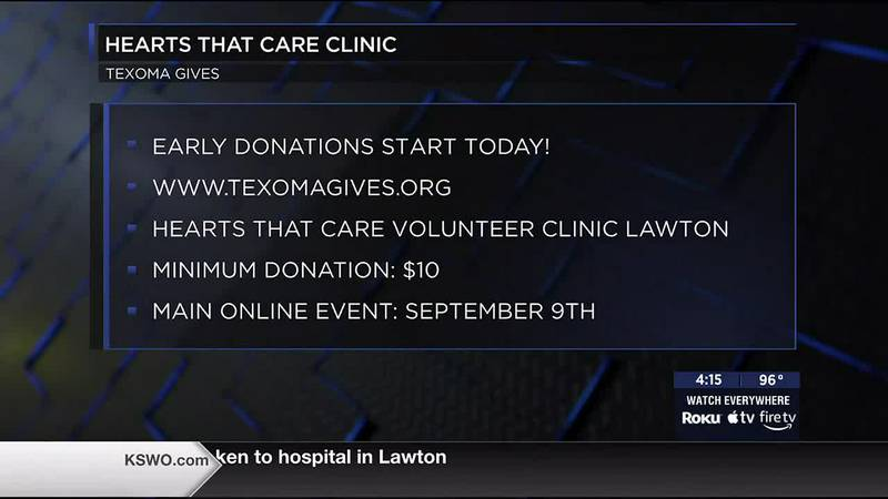 Hearts that Care Volunteer Clinic joins Texoma Gives fundraiser.