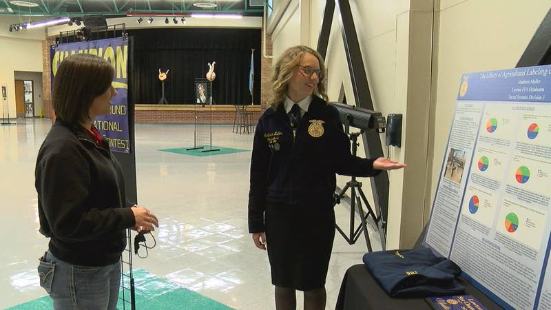 Eisenhower junior, Madison Muller is top three in the nation for her latest agriscience fair...