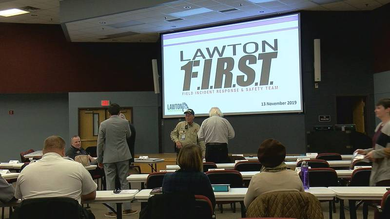 Lawton Public Schools kicked off a four-part active shooter training series Wednesday afternoon...