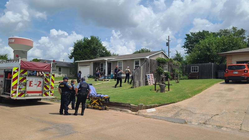 Crews were called out to a home on northwest 35th that caught fire shortly before 1 p.m. Monday.
