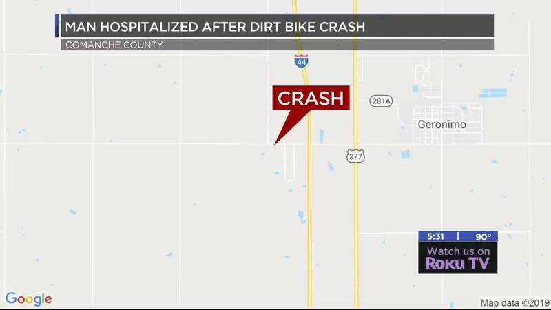 Oklahoma Highway Patrol responded to a dirt bike accident Saturday night.
