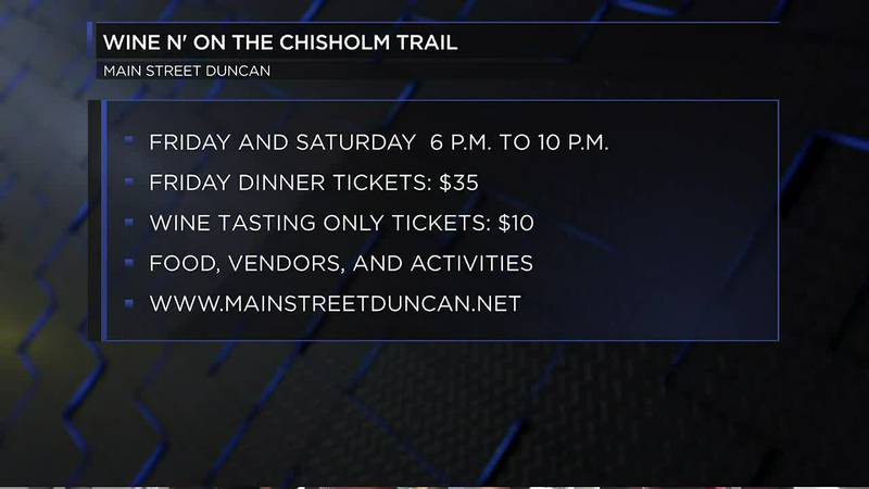 Wine'n on the Chisholm Trail to take place this week.