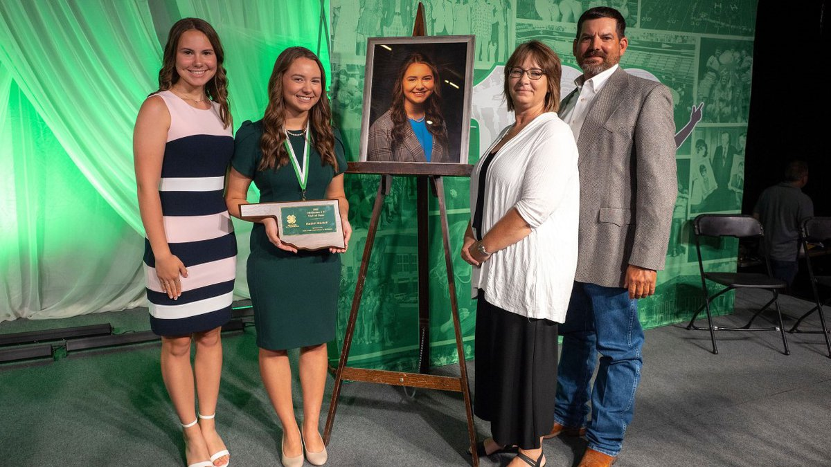 Rachel Mitchell is the first from Tillman County to achieve the 4-H award.