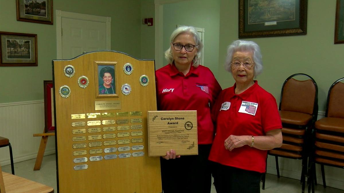 Mary Fountain received the Carolyn Stone award at a ceremony Tuesday.