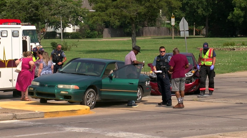 Two in hospital after an early afternoon wreck on 6th Street and Gore Boulevard in Lawton.