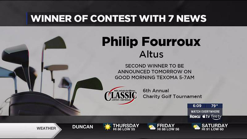 Philip Fourroux of Altus will compete in a tournament at Lawton Country Club Golf Course.