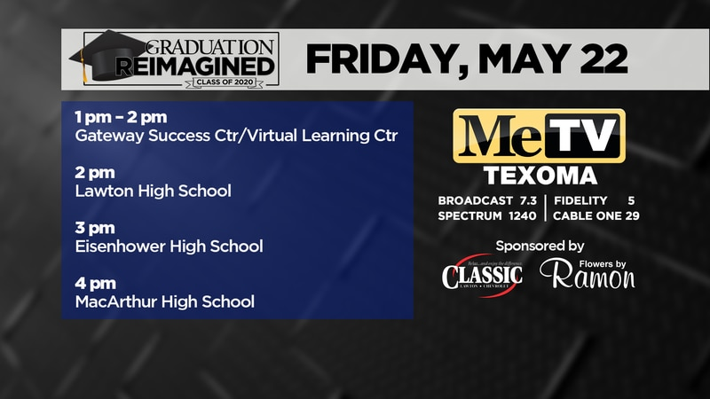 Lawton Public Schools' virtual graduations will be broadcast today on our Me-TV channel.