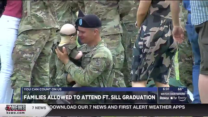 For the first time in over a year families are allowed to attend Fort Sill's basic training...