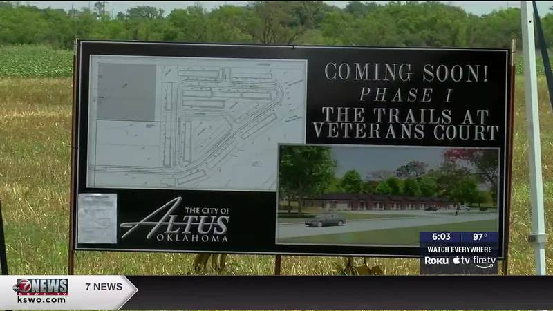 The City of Altus held a groundbreaking for Phase I of its Veterans Court housing development.