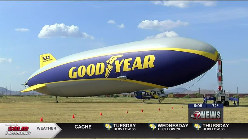 """Goodyear's iconic blimp, """"Wingfoot Three,"""" will be making a stopover in Lawton on its way to..."""