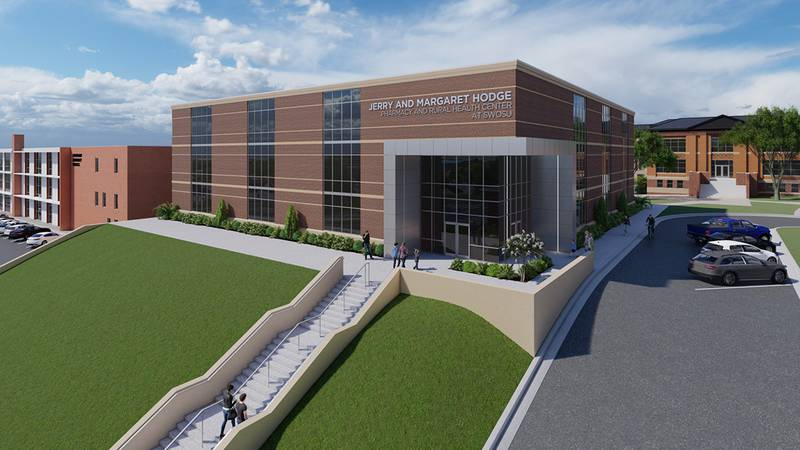 The proposed Jerry and Margaret Hodge Pharmacy and Rural Health Center at SWOSU.