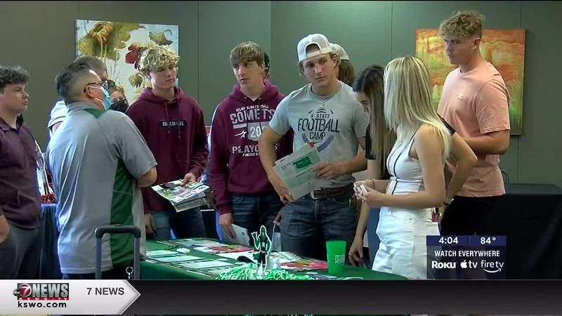 Students attend college fair at Cameron University in Duncan.