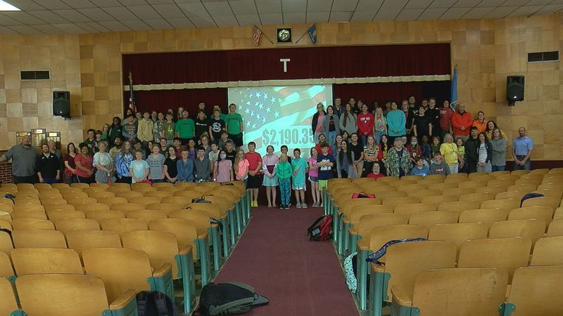 Temple Public Schools raised $2,190.35 to help soldiers returning from deployment.