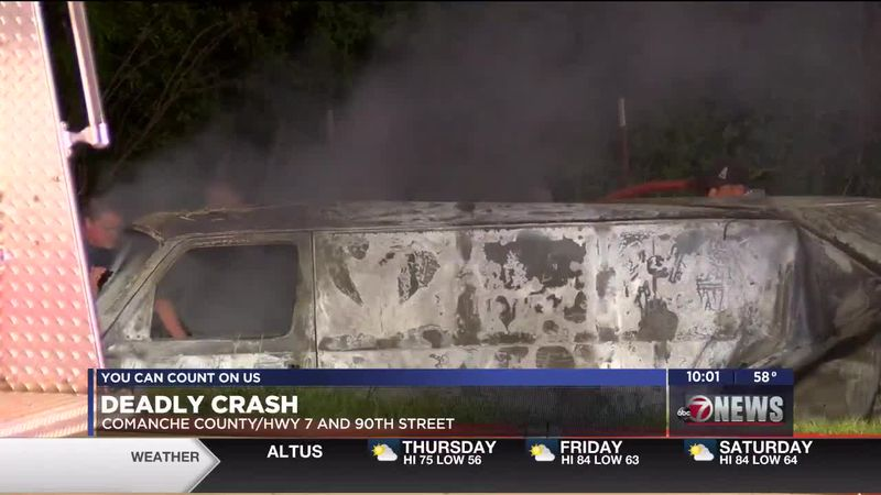 Smoke was seen for miles after a deadly crash along Highway 7 Wednesday evening.