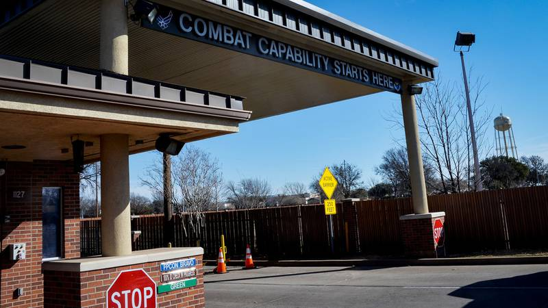 The Main Gate will shut down March 10, 2019, for construction at Sheppard Air Force Base,...