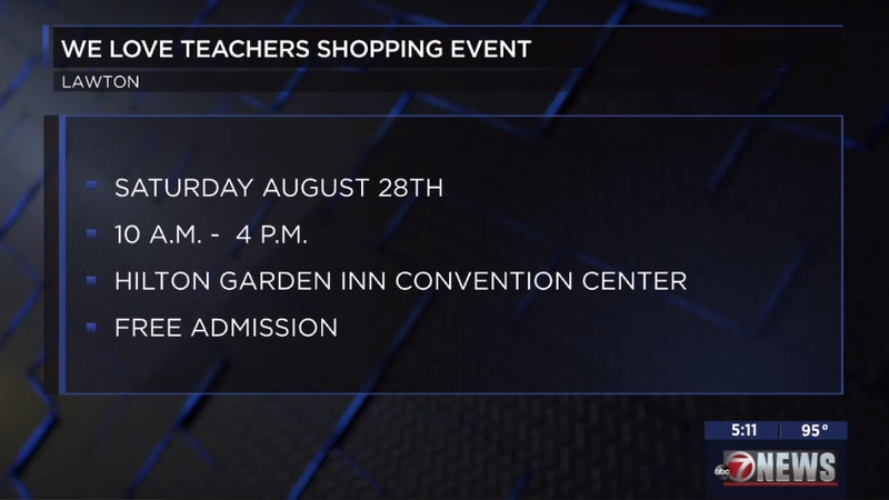 The 4th Annual We Love Teachers Shopping Event will take place this weekend.
