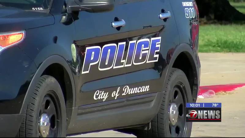 Duncan Police were called to a home on S. 3rd St. Monday to find a woman who was trapped under...