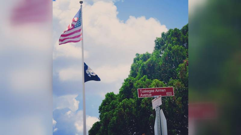 A ceremony was held Thursday morning where the new sign declaring the street Tuskegee Airmen...