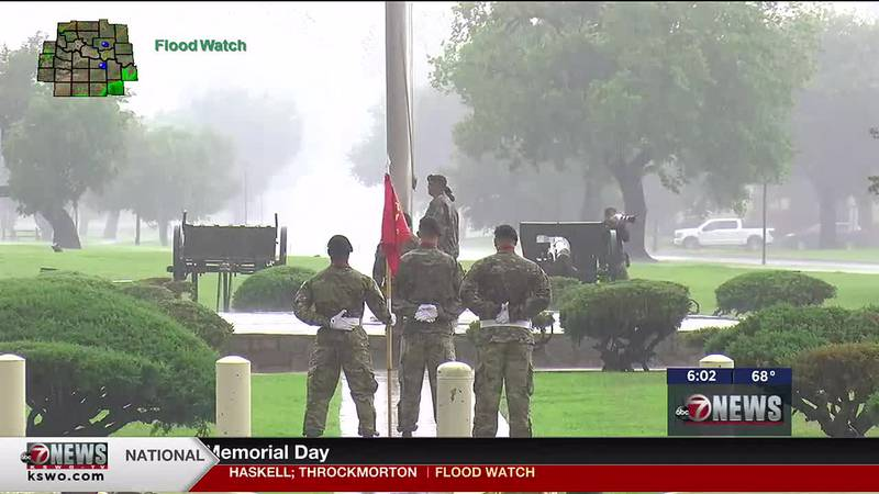 Fort Sill held their annual Memorial Day Ceremony despite the heavy rains.