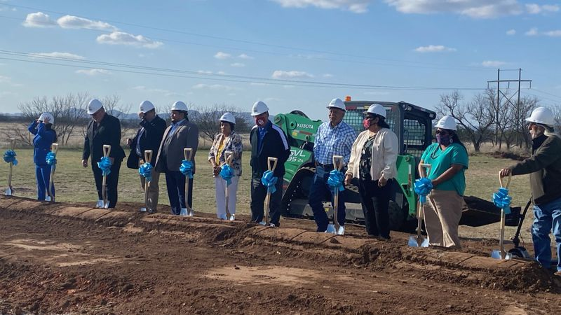A new Comanche Nation Casino officially broke ground this evening in Cache.
