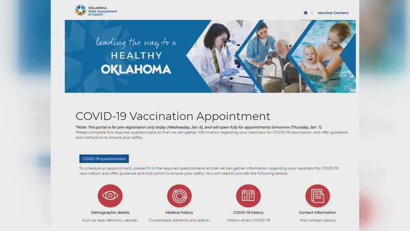 You can still book appointments to get vaccinated at Oklahoma's vaccine portal.