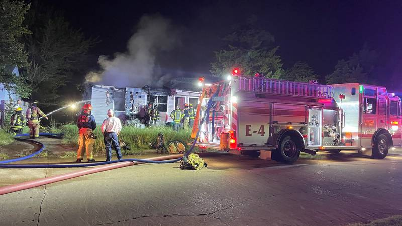 Lawton Fire Crews were dispatched to a fire shortly after 5 AM at NW Williams and Hoover Avenue