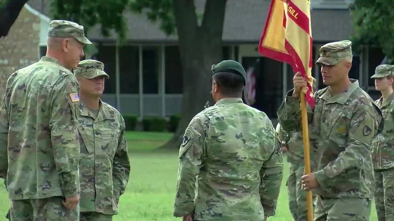 Monday there was a Change of Command ceremony for the Garrison Commander on Fort Sill. Col. Don...