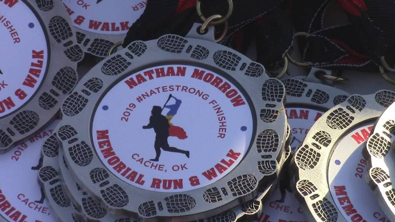 A memorial run Saturday morning paid tribute to a Cache man who was murdered this summer.