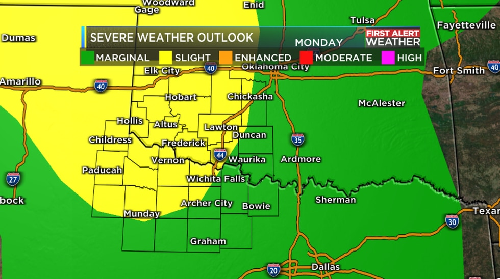 Severe Weather Outlook Monday