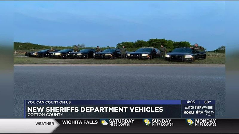 The Cotton County Sheriff's Office got six new vehicles.