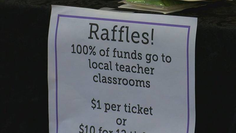 A shopping event in Lawton on Saturday supported teachers in the area.