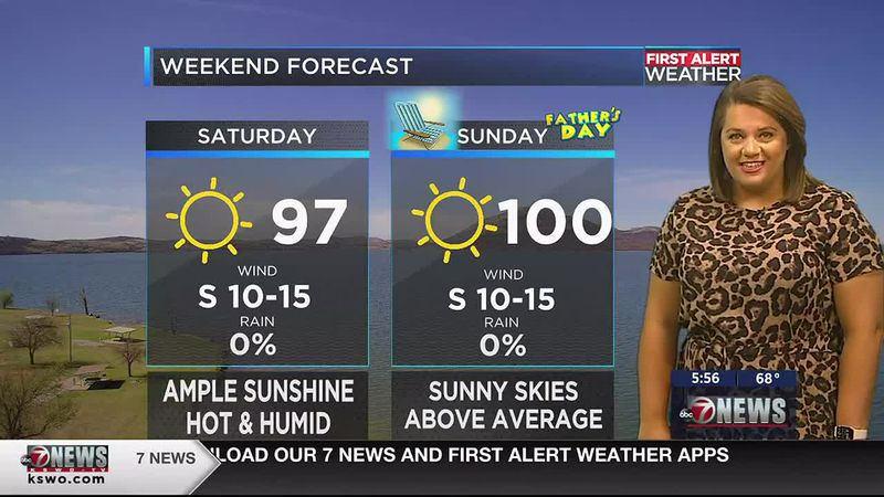 Another hot and humid day with above average temperatures