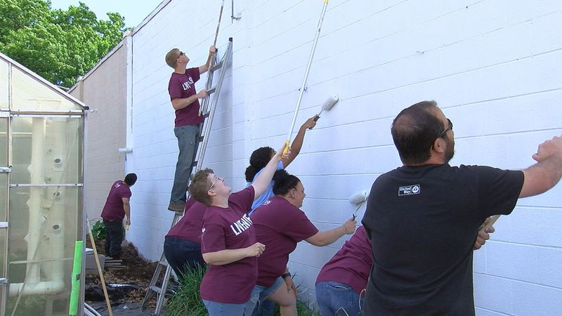 Friday, volunteers headed to nonprofits across Stephens County for the United Way Day of Caring.