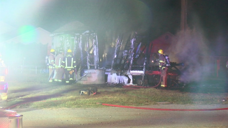Lawton fire crews were called to a fire at a mobile home around 3 a.m. Wednesday.