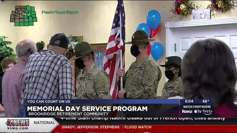 Lawton's Brookridge Retirement Community observed the holiday with their veterans.