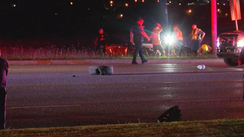 A three-car crash shut down East Gore Blvd. close to MacArthur High School overnight as police...