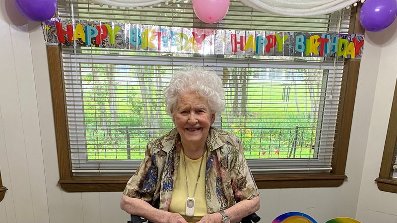 Athaline Edgar celebrates her 103rd birthday in Duncan