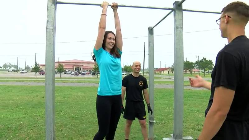 7News reporter, Hunter McEachern, is getting closer to her go of the Army Combat Fitness Test....
