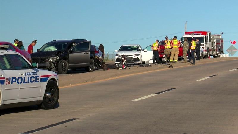 Six-car crash occurs on Rogers Lane.